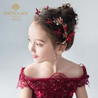 儿童头饰红色发夹女童发饰可爱唯美拍照森女韩式女孩头花饰品发卡