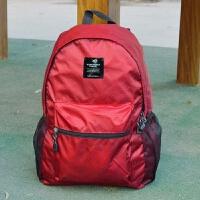 户外旅游轻可折叠皮肤包便携防水旅行双肩背包男女学生书包 红色