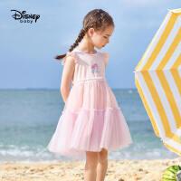 【2件2.3折价:82.5元】迪士尼童装儿童短袖连衣裙2021夏季新款女童洋气梭织夏装卡通裙子99465
