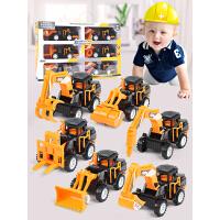 惯性工程车套装儿童挖掘机推土车挖土翻斗水泥油罐叉车男孩玩具车