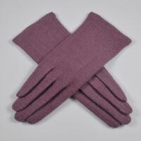 手套女手套春秋单层薄款秋冬季休闲保暖触屏分指手套女士短款 均码