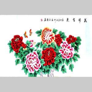 国家一级美术师,中国徐悲鸿画院院士安庆臻(花开富贵)13