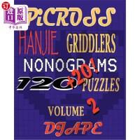 【中商海外直订】Picross, Hanjie, Griddlers, Nonograms: 120+20! Puzz