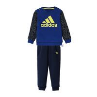 adidas阿迪达斯童男婴童针织套装宝宝卫衣长裤休闲运动服DW5368