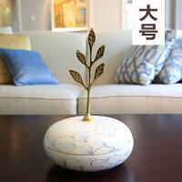 现代欧式家居装饰品摆件 客厅桌面陶瓷花插花器摆饰仿真花艺