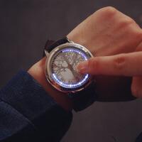 创意礼品触摸自动感应LED电子手表 实用男生电子手表礼物