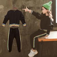 童装女童秋装套装2018新款韩版春秋中大儿童运动休闲两件套洋气潮
