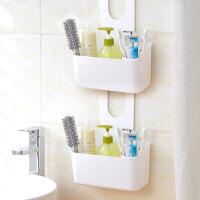 浴室挂篮可挂式收纳篮卫生间塑料置物架洗浴用品置物篮壁挂篮挂蓝