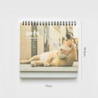 2018-2019年小清新猫咪台历可爱卡通大格子台历记事本大号桌面办公日程