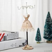 耳环展示架项链挂架饰品收纳首饰架欧式公主模特摆件走心生日礼物