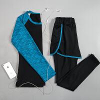 瑜伽服女套装速干专业健身服跑步运动服修身大码秋冬新款