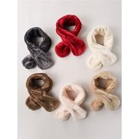儿童围巾冬季婴儿宝宝围脖加绒保暖围巾韩版男童女童围巾潮