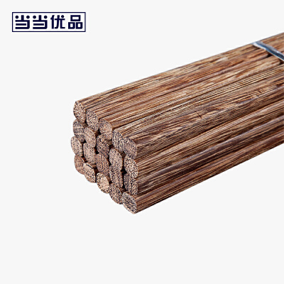 当当优品 天然鸡翅木筷子10双装当当自营 手工打磨 进口木筷 原木气息 手工打磨 25CM