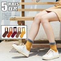 袜子女长中筒袜全棉韩版学院风日系潮堆堆袜韩国春秋百搭夏季厚款