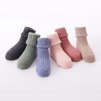 儿童袜子秋冬松口羊毛袜0-1-3岁男女宝宝