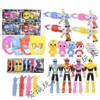 迷你战警特工队玩具米米特攻队投影变形机器人光之枪儿童变形玩具