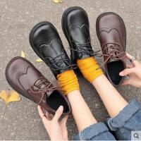 ins小皮鞋女学生百搭潮款新款韩版ulzzang原宿英伦风复古布洛克鞋