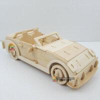 木制仿真10岁男童玩具 智力DIY组装跑车汽车模型1:18 拼装宝Z4马