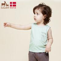 欧孕宝宝无袖棉小背心儿童婴儿护肚男女童夏童装内衣夏季t恤1-3岁马甲