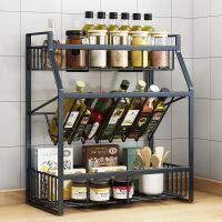 厨房调料置物架台面多层厨房用品油盐酱醋瓶收纳佐料架子