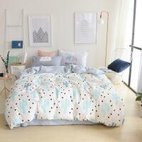 【特惠购】宿舍床上三件套单人床单被套被罩两件套2四件套纯棉清新床品套件3