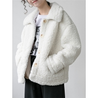 红色羊羔毛外套女冬皮毛一体毛毛大衣鹿皮绒上衣新款秋冬韩版