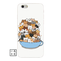 可爱卡通猫咪iphone6手机壳X个性苹果5全包硅胶软壳7plus日系清新