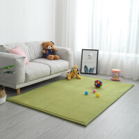 小儿爬行垫 宝宝爬行垫加厚婴儿客厅家用游戏毯儿童爬爬垫地垫子防摔垫 草绿色 宽边超厚