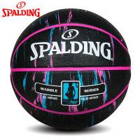 斯伯丁橡胶篮球学生蓝球官方室外水泥地耐磨比赛专用6号球