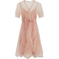 小礼服很仙的法国小众两件套夏2019新款女装春装蕾丝连衣裙子秋冬