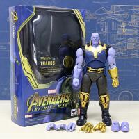 漫威模型玩具可动 灭霸钢铁侠mk50蜘蛛侠奇异博士蚁人 送小可乐和支架