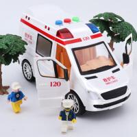 男孩仿真玩具车汽车模型音乐警车救护车快递车惯性儿童玩具