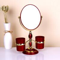 婚庆用品红色双面镜结婚镜子陪嫁嫁妆化妆镜公主镜 3倍放大台面镜1 欧式双面镜子一个