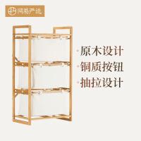 【网易严选 顺丰配送】三层竹收纳柜