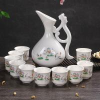 日式古风陶瓷酒具分酒器白酒烈黄酒盅小酒杯创意酒壶家用套装礼品