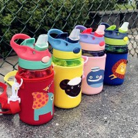 夏季儿童吸管水杯子家用幼儿园防摔女宝宝小学生可爱便携夏天水壶