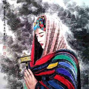 文化部文化艺术人才中心培训基地秘书长,中国领导干部书画研究院院长徐岩(祈福48)