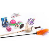 猫玩具耐咬羽毛铃铛逗猫玩具小猫猫薄荷球猫咪用品