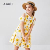 【活动价:134.5】安奈儿童装女童连衣裙纯棉2020夏季新款洋气花朵中大童女孩裙透气