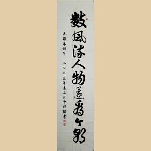 《数风流人物还看今朝》管朝锁 亲笔 【RW270】安徽省书法家协会会员 淮海书法研究会理事