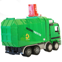 带垃圾桶早教益智音乐玩具惯性清洁车玩具自动升降环卫车垃圾车