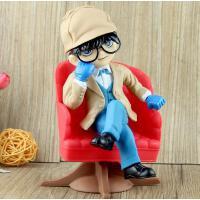 名侦探柯南手办模型 福尔摩斯侦探 大号江户川柯南坐沙发公仔摆件