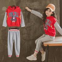女童春秋装套装2018新款韩版潮衣女孩洋气运动服大儿童秋季两件套