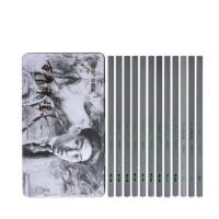 2B-10B素描铅笔 素描铅笔套装 美术用品 软中硬碳笔马利 绘画铅笔 CT8012套装铅笔12支