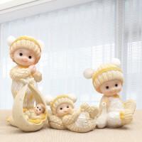 可爱吊脚娃娃摆件家居装饰品 创意结婚礼物工艺品儿童房小摆设婚房装饰