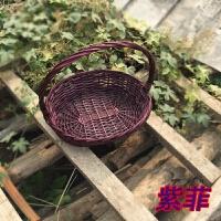 水果篮手提篮蔬菜篮子藤编篮礼品篮批发包装鸡蛋篮竹篮野餐篮小篮