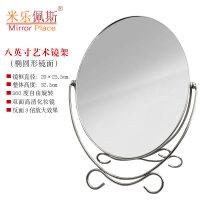 米乐佩斯化妆镜台式双面镜子欧式高清金属梳妆镜结婚简约复古镜子1
