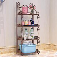 小物品摆放架 铁艺浴室置物架 落地卫生间脸盆架 洗手间厨房收纳储物层架