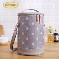 圆形保温袋保温包铝箔加厚保暖大号加厚大容量便当包手提包带饭包SN1283