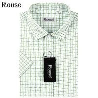 洛兹男正品15年新款商务休闲全棉短袖格子衬衫夏款 SLM15235-52